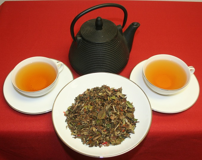 teapot, teacups, Pai Mu Tan white tea