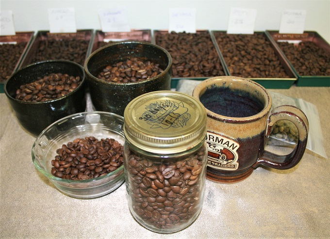 different coffee roasting styles coffee beans set up