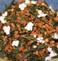 japan genmaicha green tea with popped rice